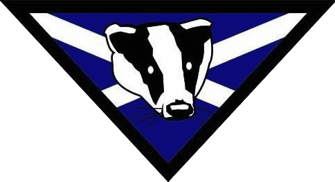 Badger on Scotland Flag